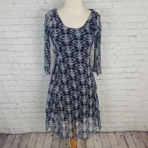 Love Moschino Navy Lace Dress Overlay Rose S